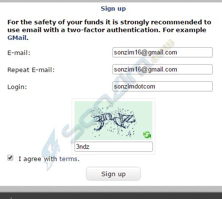 Đăng ký tài khoản BTC-e
