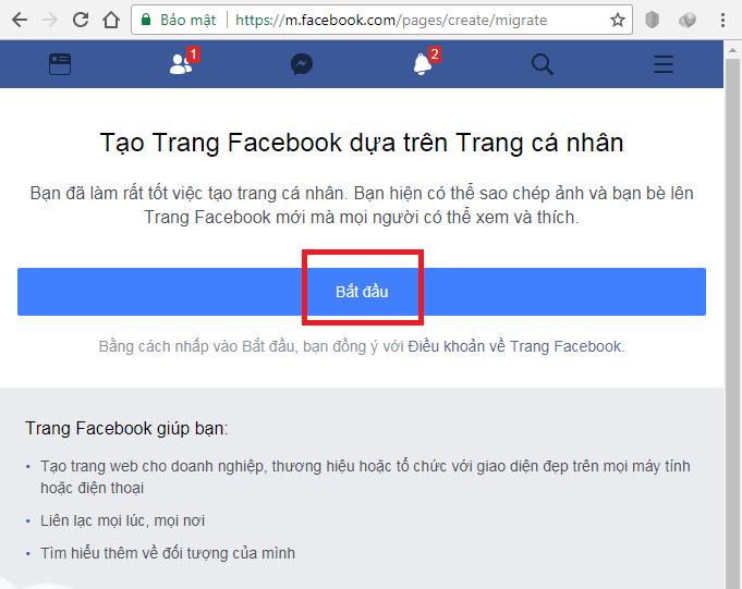 Cách chuyển trang cá nhân thành Fanpage Facebook - Ảnh 1