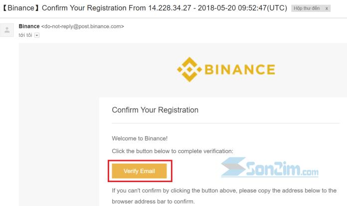 Cách đăng ký tài khoản Binance - Bước 4