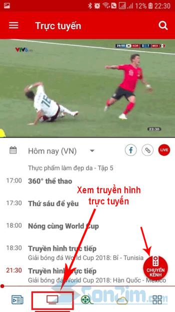 Xem bóng đá World Cup 2018 trực tiếp trên VTV Go
