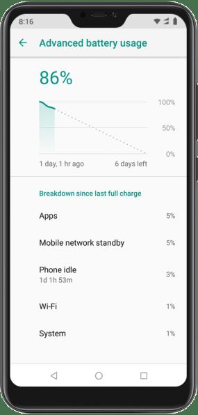 Đánh giá Xiaomi Mi A2 Lite - Pin khỏe