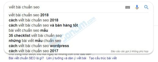 Nghiên cứu từ khóa - Sử dụng Google tìm kiếm