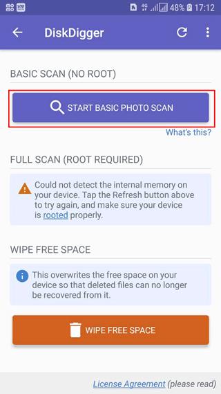 Cách khôi phục ảnh đã xóa trên Android bằng DiskDingger photo recovery - 1