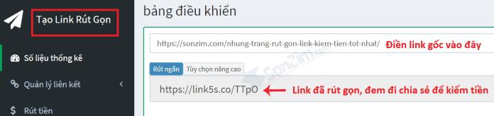 Cách rút gọn link kiếm tiền trên Link5s - Trang rút gọn link kiếm tiền tốt nhất Việt Nam