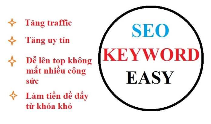 Chọn những từ khóa dễ seo trước khi bắt đầu một Website
