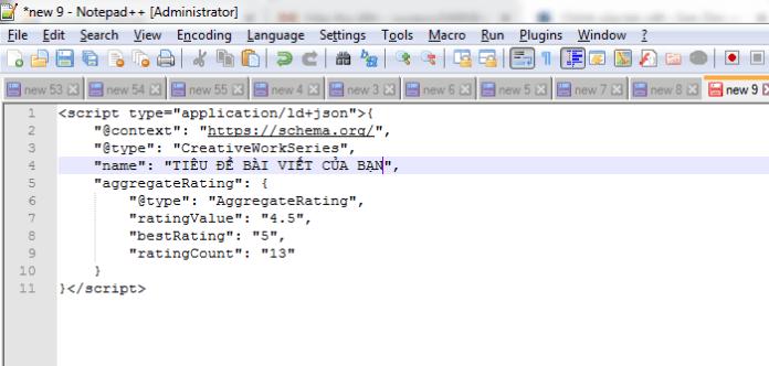 Chỉnh sửa mã Schema tìm được trên mạng
