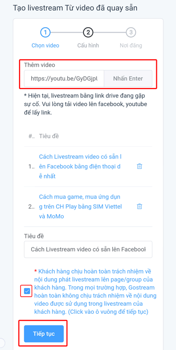 Live Stream video có sẵn lên Facebook - 2