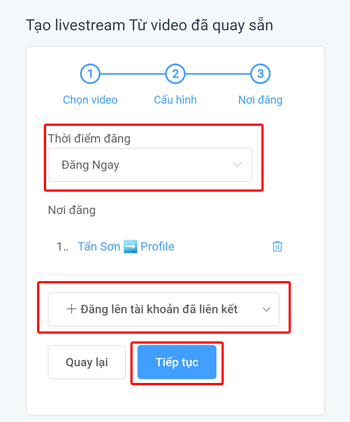 Live Stream video có sẵn lên Facebook - 4