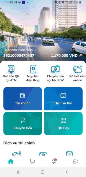 Ứng dụng BIDV SmartBanking