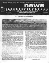 1979 01 Usa Moo Duk Kwan Federation Newsletter