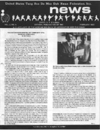 1982 02 Usa Moo Duk Kwan Federation Newsletter