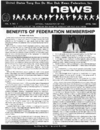 1983 04 Usa Moo Duk Kwan Federation Newsletter