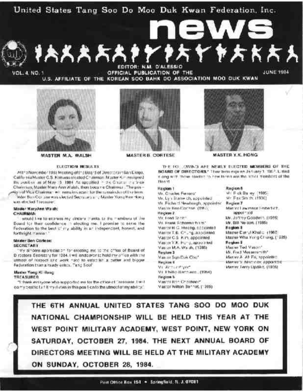thumbnail of 1984 06 Usa Moo Duk Kwan Federation Newsletter