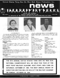 1984 06 Usa Moo Duk Kwan Federation Newsletter