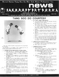 1985 08 Usa Moo Duk Kwan Federation Newsletter