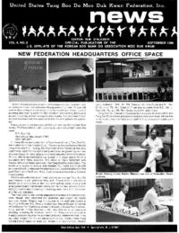 1986 09 Usa Moo Duk Kwan Federation Newsletter