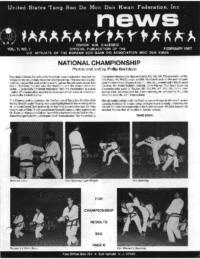 1987 02 Usa Moo Duk Kwan Federation Newsletter