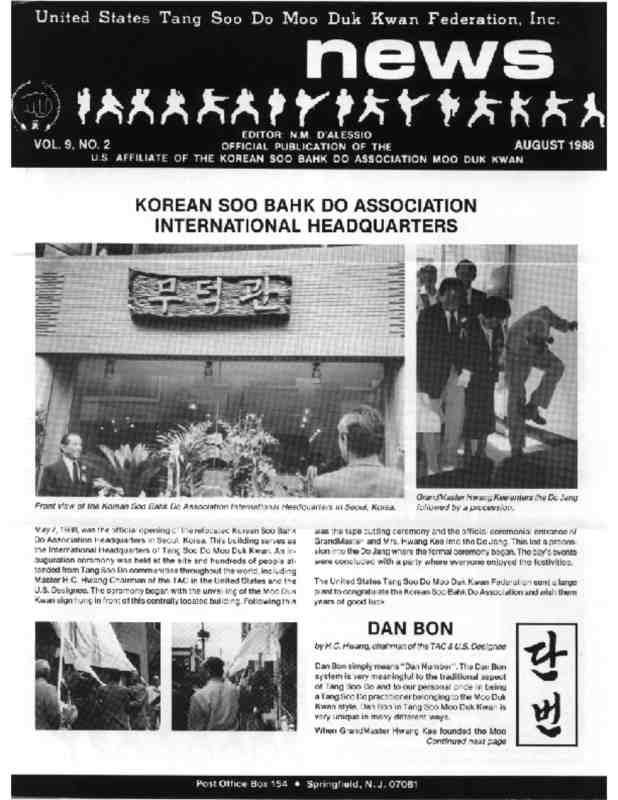 thumbnail of 1988 08 Usa Moo Duk Kwan Federation Newsletter