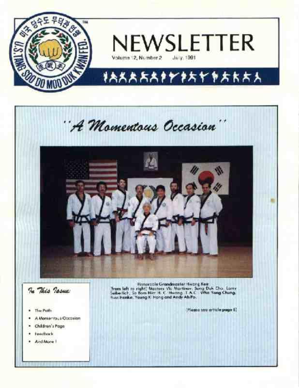 thumbnail of 1991 07 Usa Moo Duk Kwan Federation Newsletter