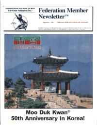 1995 09 Usa Moo Duk Kwan Federation Newsletter