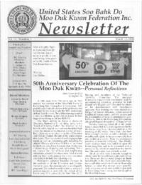 1996 03 Usa Moo Duk Kwan Federation Newsletter