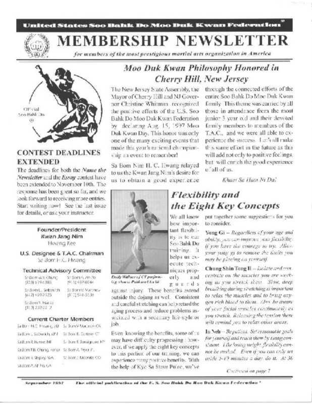 thumbnail of 1997 09 Usa Moo Duk Kwan Federation Newsletter