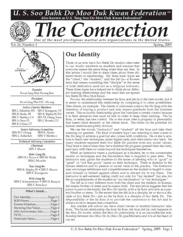 thumbnail of 2005 05 Usa Moo Duk Kwan Federation Newsletter