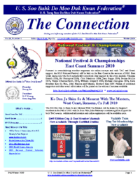 2009 12 Usa Moo Duk Kwan Federation Newsletter