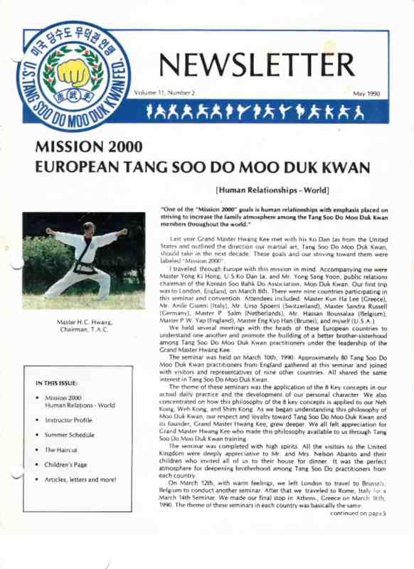 thumbnail of 1990 05 Usa Moo Duk Kwan Federation Newsletter