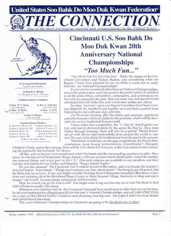 thumbnail of 1998 Spring Summer Usa Moo Duk Kwan Federation Newsletter