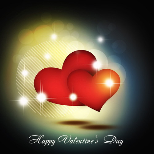 Создание абстрактной открытки на День святого Валентина ...