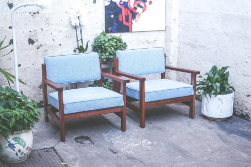 Spacious vintage armchairs