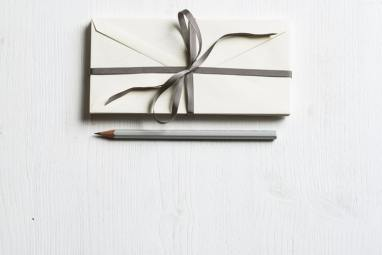 handwritten letter wrapped
