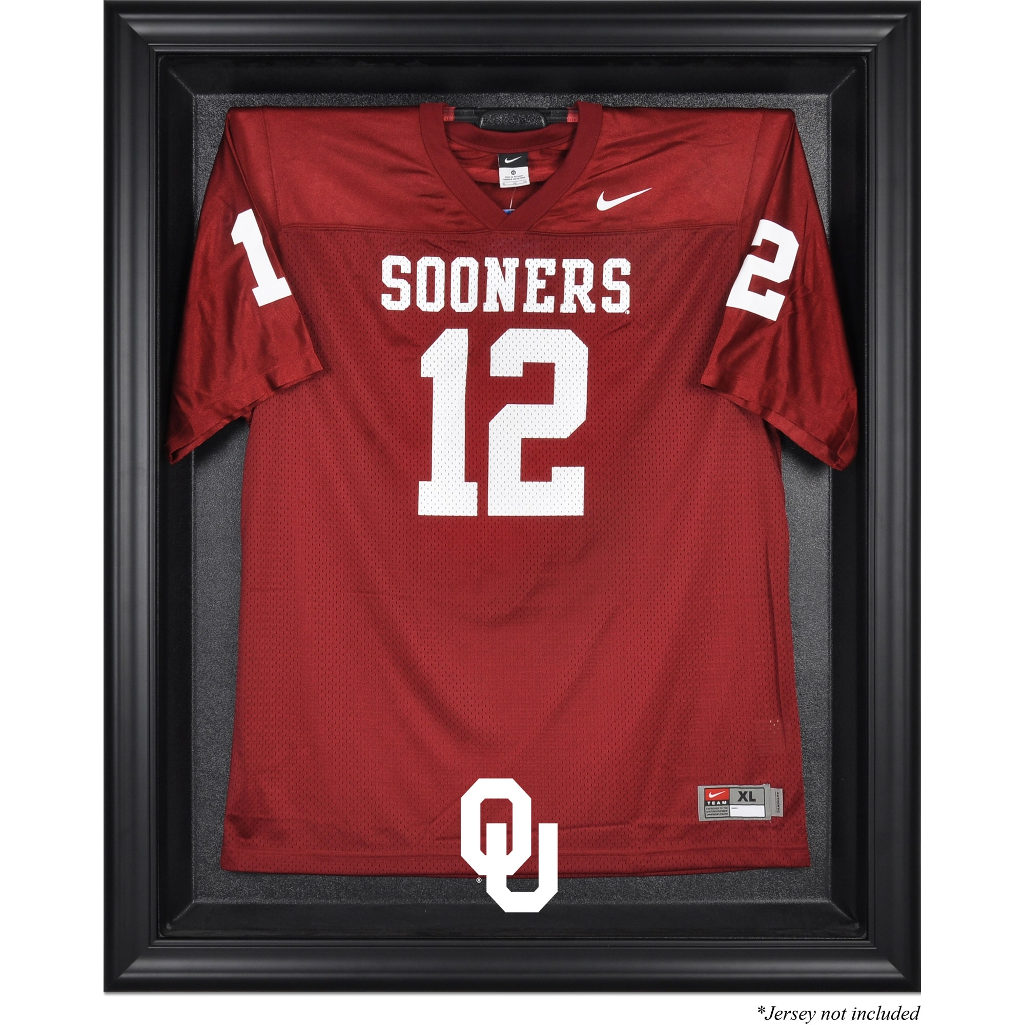Oklahoma Sooners Fanatics Authentic Black Framed Logo Jersey Display Case