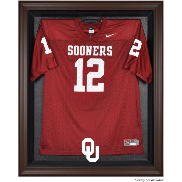 Oklahoma Sooners Fanatics Authentic Brown Framed Logo Jersey Display Case