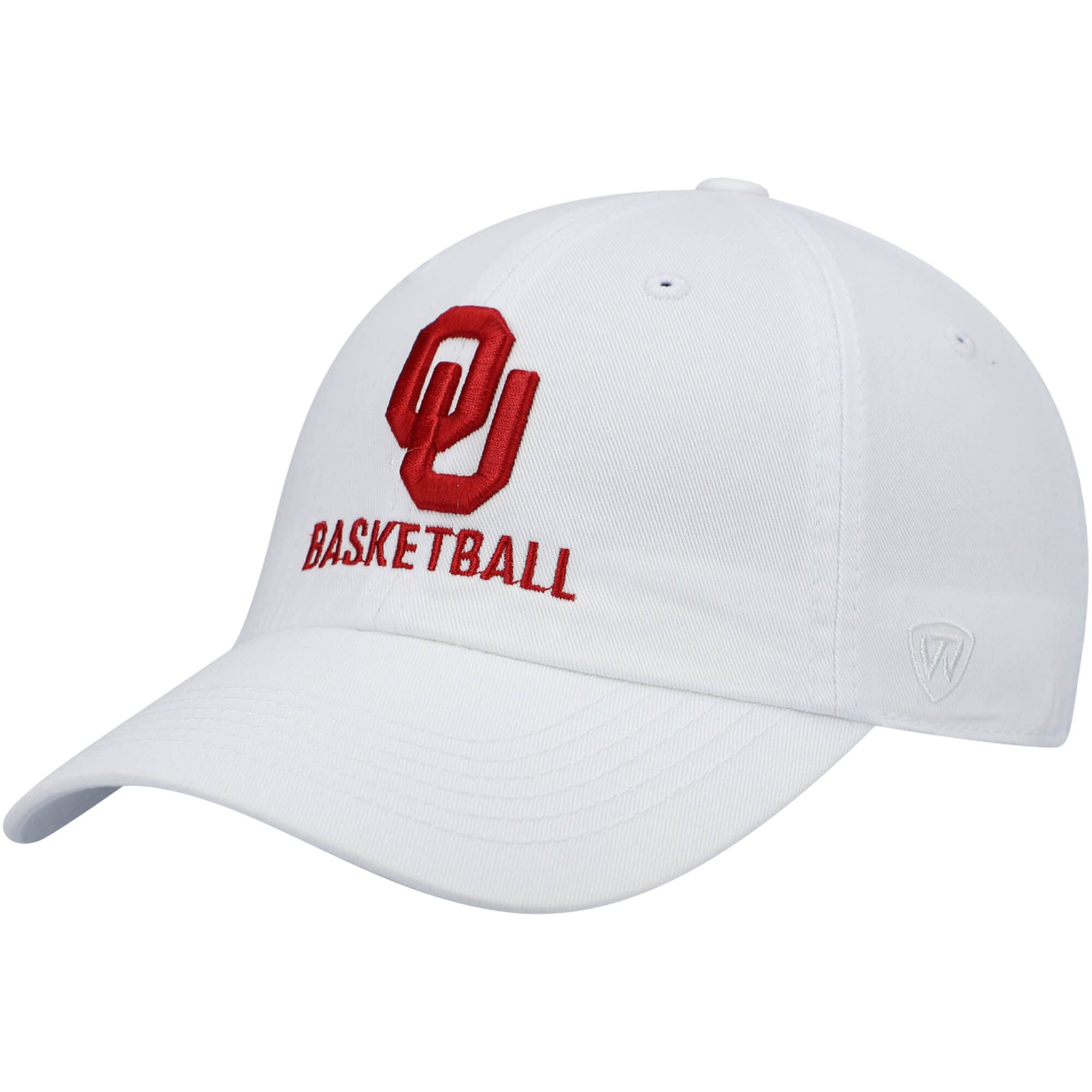 Oklahoma Sooners Top of the World Basketball Crew Adjustable Hat - White
