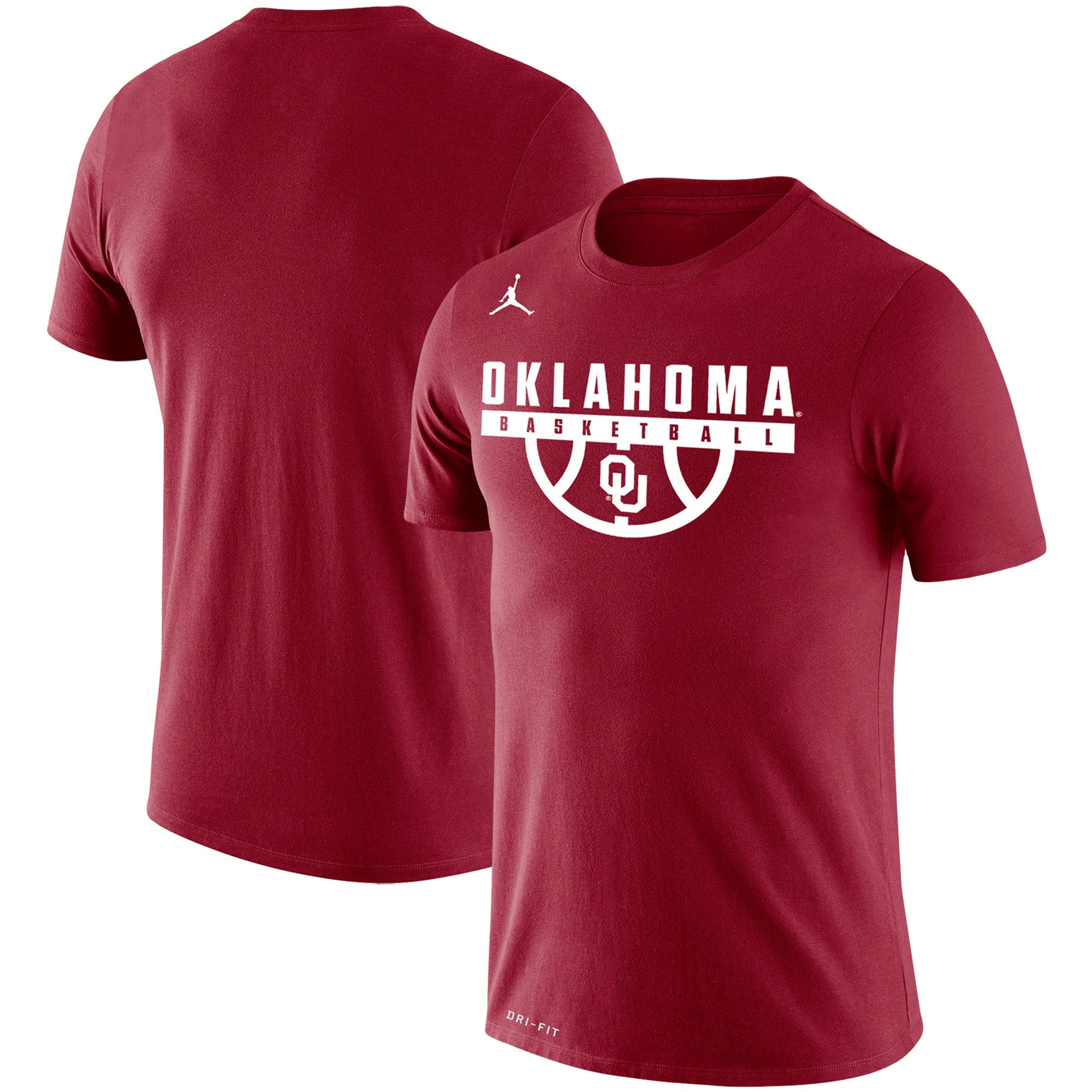 Oklahoma Sooners Jordan Brand Basketball Drop Legend Performance T-Shirt - Crimson