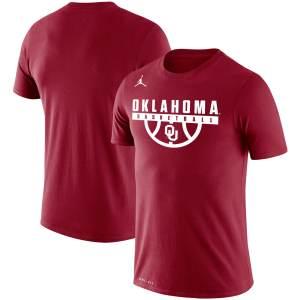 Oklahoma Sooners Jordan Brand Basketball Drop Legend Performance T-Shirt - Crimson