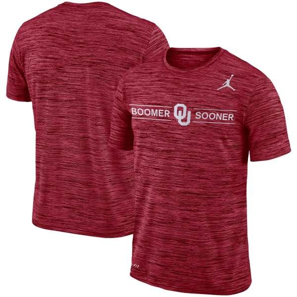 Oklahoma Sooners Jordan Brand Velocity Legend Logo Performance T-Shirt - Crimson