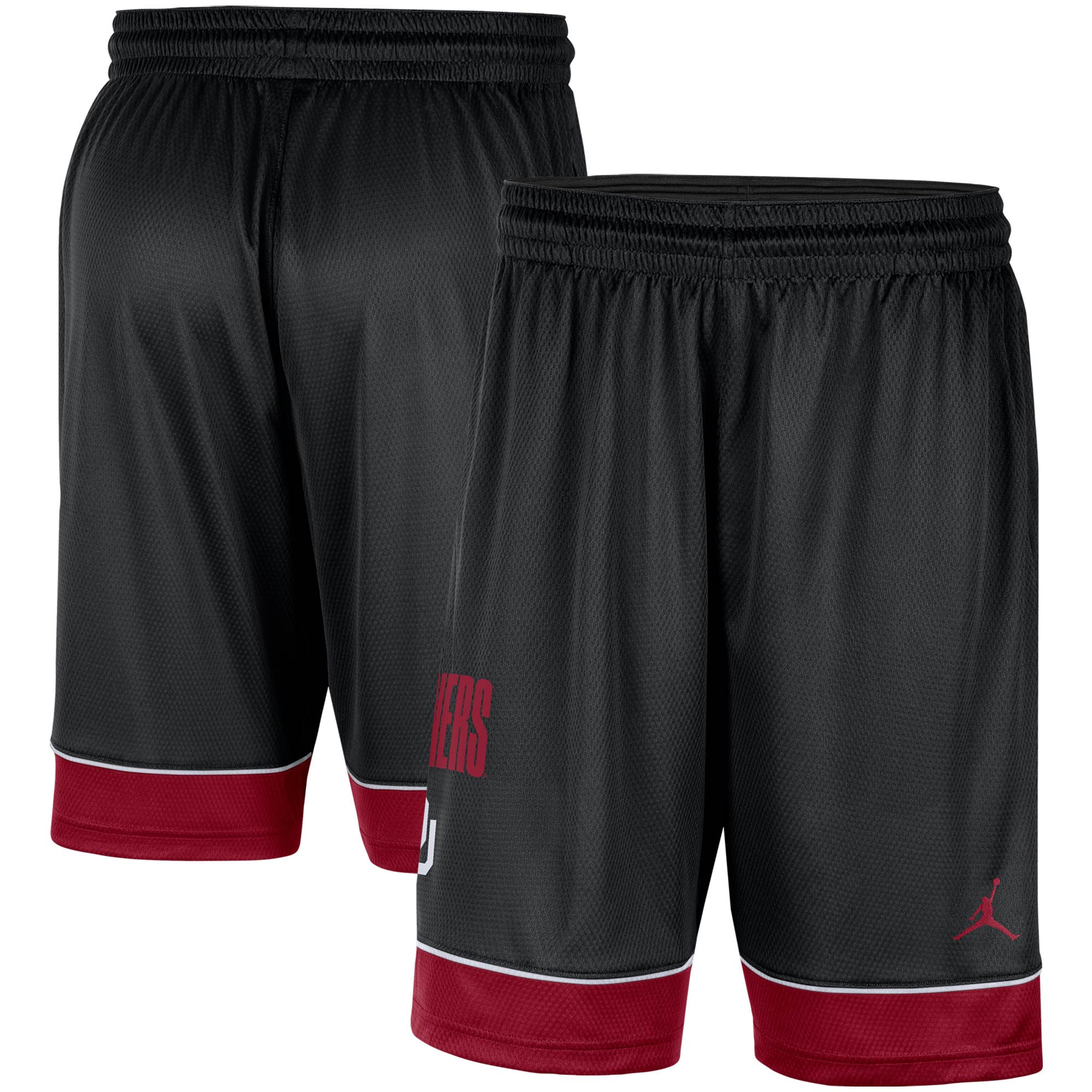 Oklahoma Sooners Jordan Brand Fast Break Shorts - Black