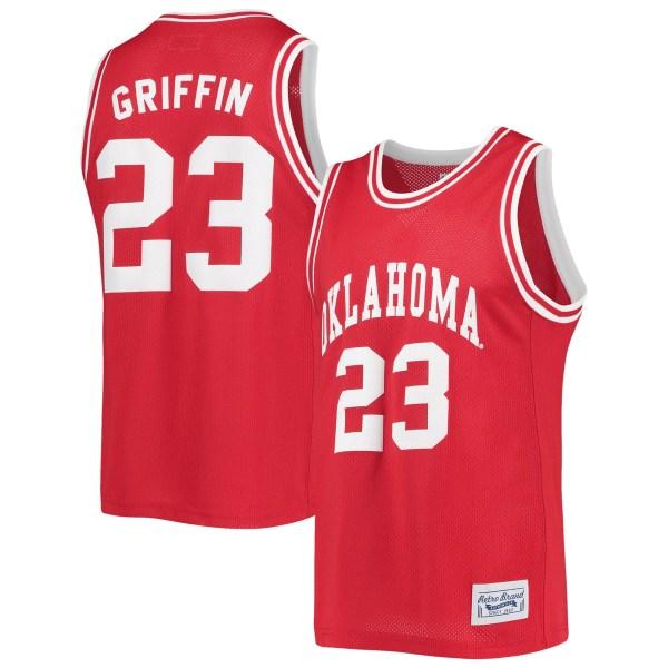 Blake Griffin Oklahoma Sooners Original Retro Brand Commemorative Classic Basketball Jersey - Crimson