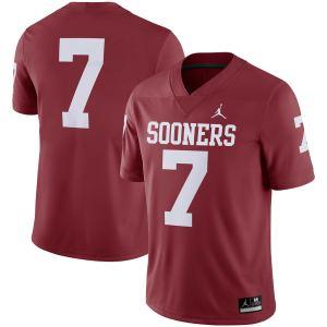 #7 Oklahoma Sooners Jordan Brand Team Game Jersey - Crimson