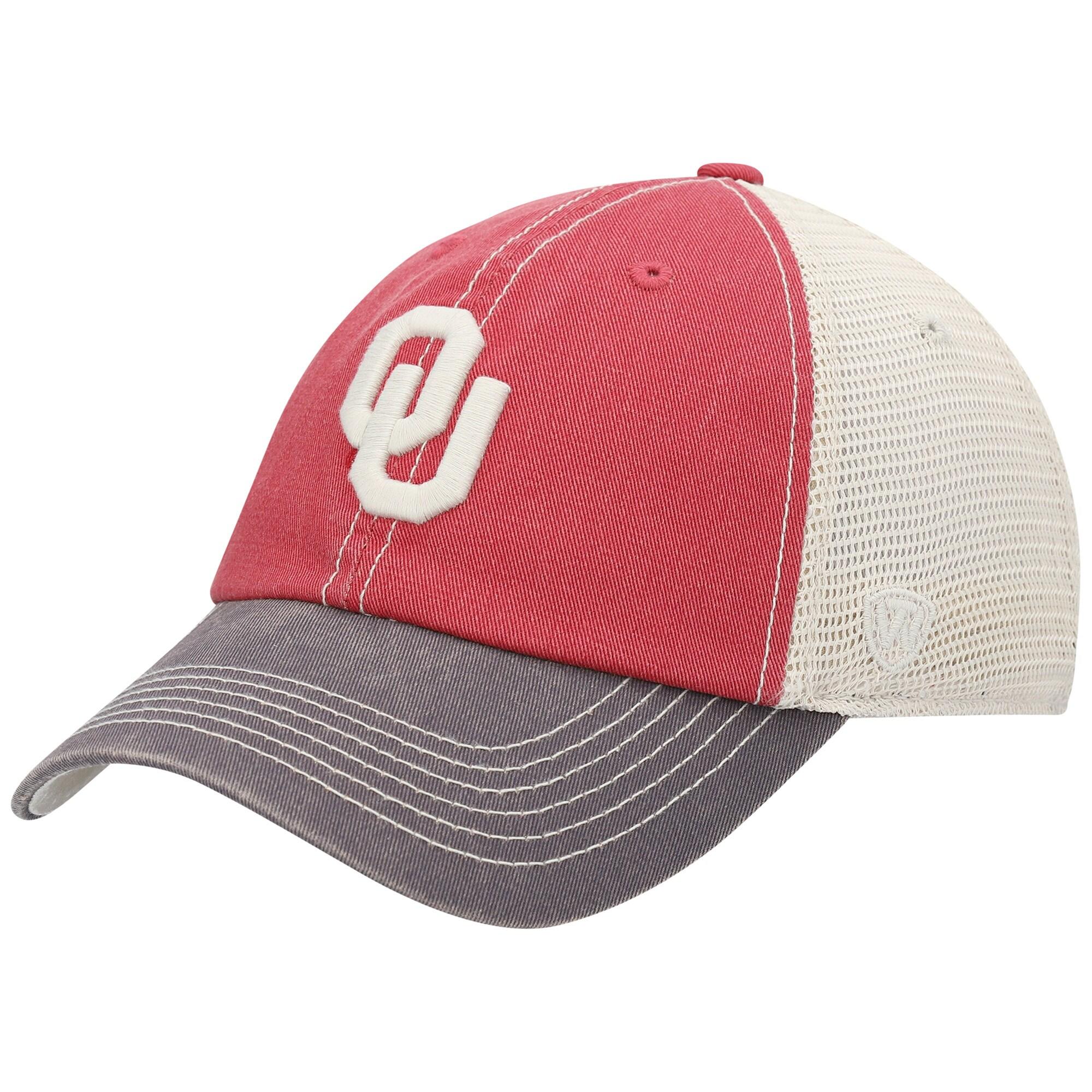 Oklahoma Sooners Top of the World Offroad Trucker Adjustable Hat - Crimson