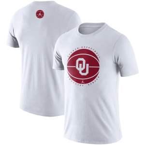 Men's Jordan Brand White Oklahoma Sooners Team Basketball Icon T-Shirt