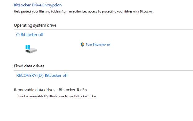 bitlocker enable