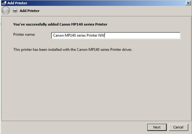 rename network printer