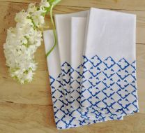 Diamond-print napkins by Salvage Ink; image copyright Shannon Smith, Salvage Ink