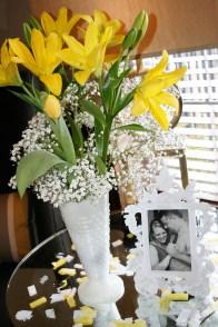 Beautiful floral arrangements by Mama Chadwick