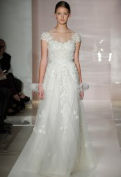 Reem Acra Bridal Fall 2014 // Photo credit: theknot.com