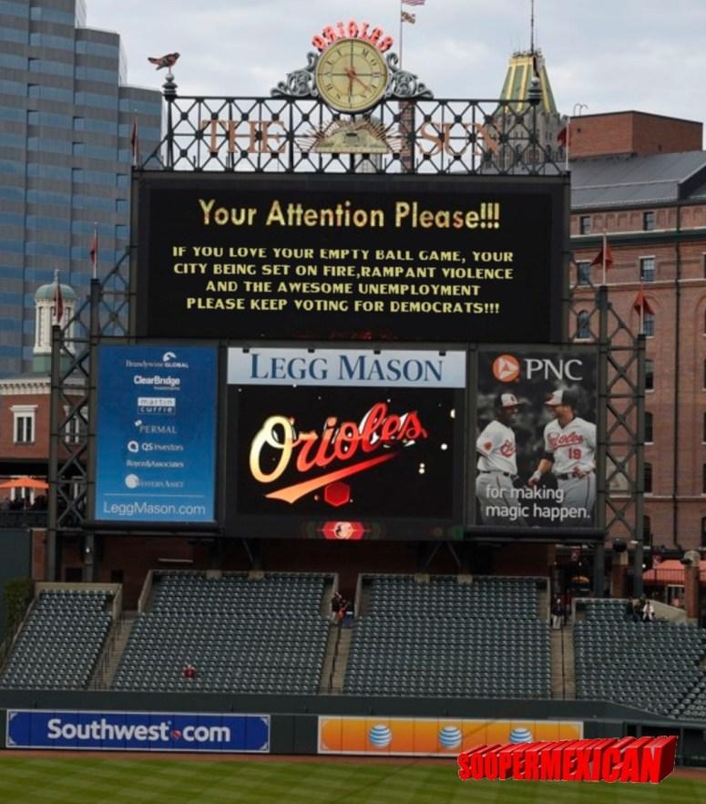 Orioles field sign-DEMOCRATS